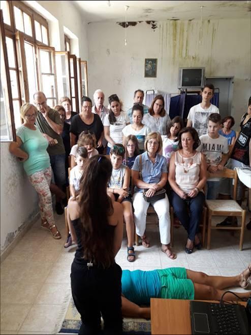 Σεμινάριο Πρώτων Βοηθειών στην Καστανιά (15 Αυγ 2017) και Μούχα (16 Αυγ 2018) από μέλη του Συλλόγου.