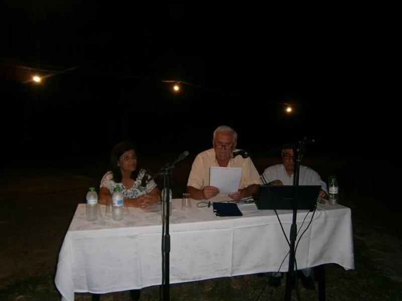 Οι ομιλητές της ημερίδας Αθηνά Ζαχαρού-Λουτράρη, Γιώργος Κλήμος και συντονιστής ο Παν. Κατσαρός