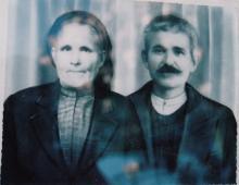 Ένας εκ των γιων του Δημητρίου Ζαχαρού ο Μάρκος, με τη γυναίκα του Μάρθα το γένος Δ. Κορδάτου.