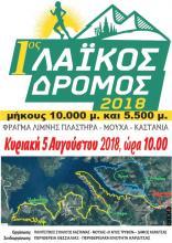 1ος Λαϊκός Δρόμος Φράγματος Λίμνης Πλαστήρα / Καστανιά – Μούχα